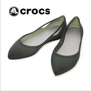 Crocs Pointed jelly flats 6